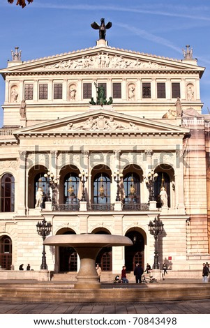 famous Opera house in Frankfurt, the Alte Oper, Germany - stock photo