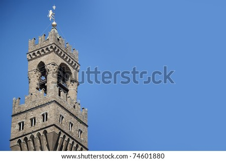 Famous Palazzo Vecchio Tower, Florence, Italy - stock photo