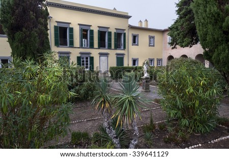 Famous place famous person, garden of Napoleon in elba island