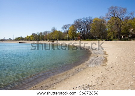 famous place of toronto - the beaches sea and sky background