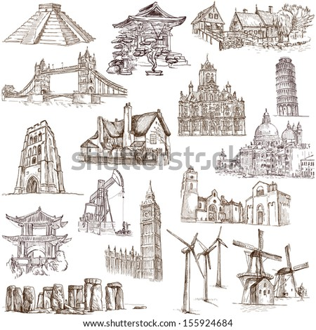Famous Places Buildings Architecture Around World Stock