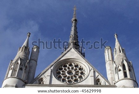 Famous Royal courts of justice, the strand, london. - stock photo