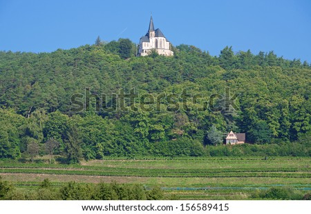 famous Saint Anna Chapel at German Wine Route near Edenkoben,Rhineland-Palatinate,Germany