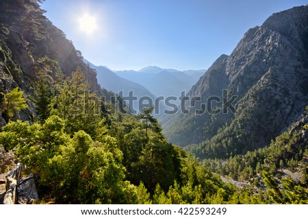 Famous Samaria Gorge, Crete, Greece