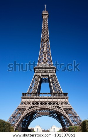 Famous sightseeing of Paris Eiffel Tower, France - stock photo