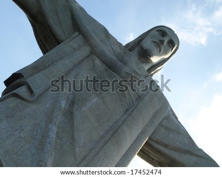 Famous statue of the Christ the Reedemer, in Rio de Janeiro, Brazil. - stock photo