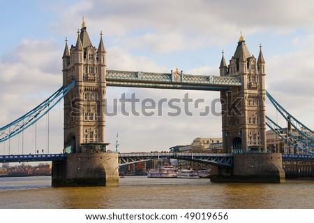 famous tower bridge - stock photo