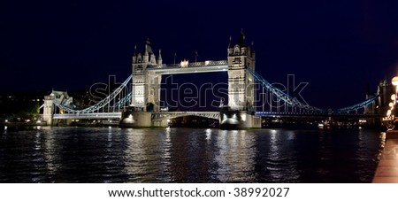 Famous Tower bridge in London, UK.