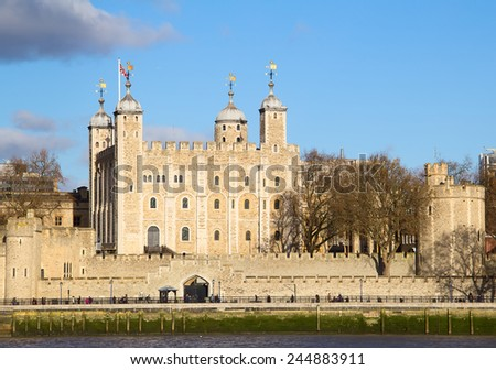 Famous Tower of London, United Kingdom - stock photo