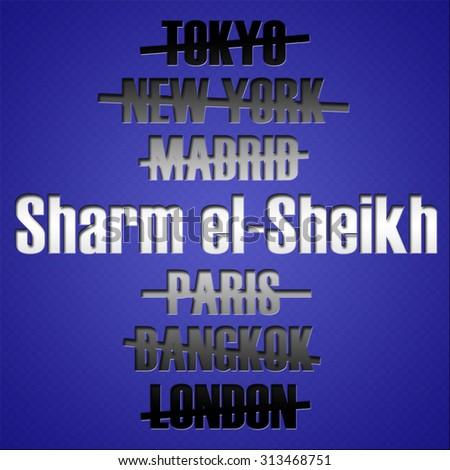 Famous travel destination places. Tourism concept. - stock photo