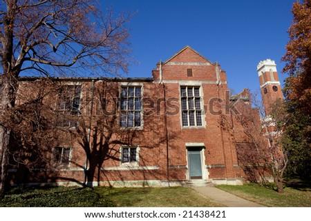 Famous Vanderbilt University campus in Nashville Tennessee - stock photo