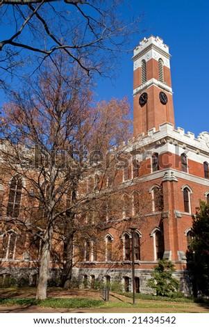 Famous Vanderbuilt University campus in Nashville Tennessee - stock photo