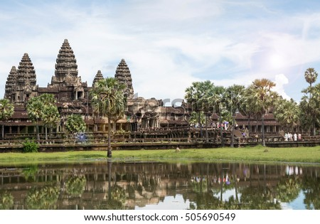 Famous View Point of Angkor Wat Temple, Cambodia