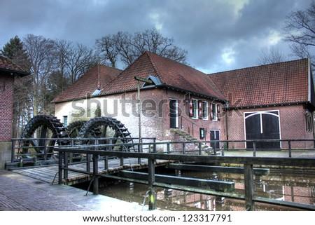 Famous Watermill at Singraven, Denekamp - The Netherlands - stock photo