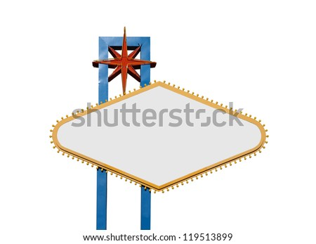 Famous Welcome to Las Vegas sign with all text removed. - stock photo