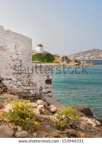 Famous windmill of Mykonos - stock photo