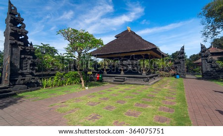 Famouse old temple on island Bali in Indonesia. Summer sunny day. - stock photo
