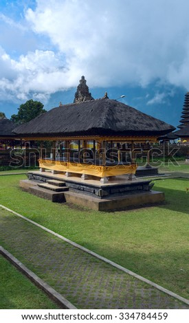 Famouse temple on Bali - stock photo