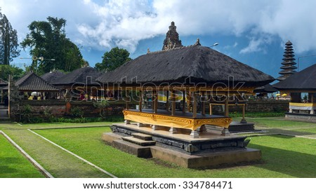 Famouse temple on island Bali - stock photo