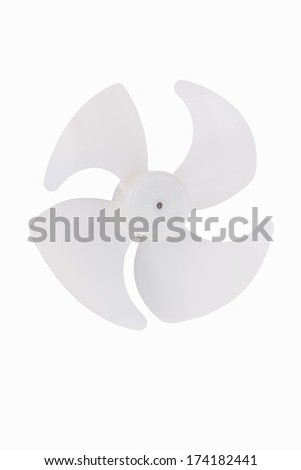 Fan blades isolated on white - stock photo