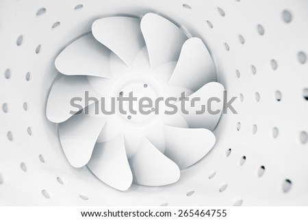 fan blades of modern ventilation system - stock photo