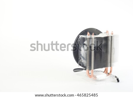 fan CPU cooler white background