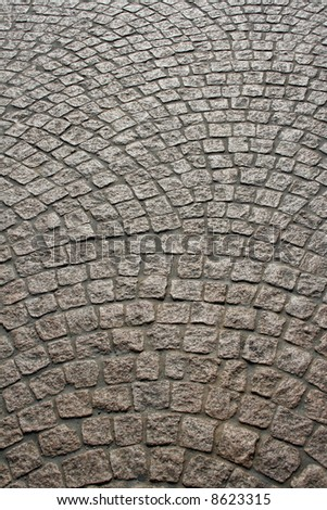 Fan patterned cobblestone at the Sydney Opera House