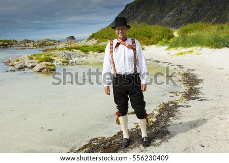 Fana bunad - folk costume in Bergen Norway