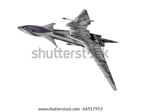 fanatsy aircraft - stock photo