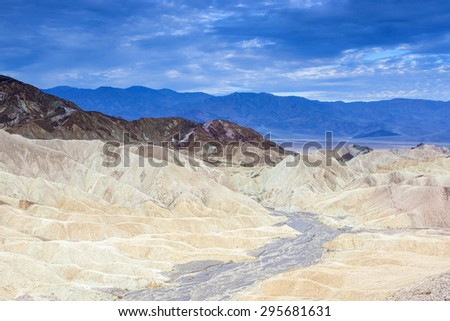 Fanciful Designs Of Zabrislie Point Amargosa Mountain Range in Death Valley in California. Horizontal Image Orientation