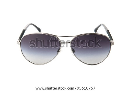 Fancy aviator sunglasses close up