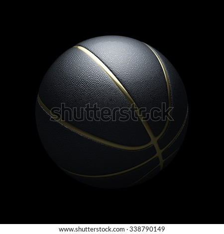 Fancy black and golden basketball concept