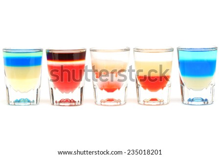Fancy cocktail drinks hard alcohol cocktails - stock photo