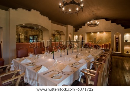Fancy Colonial Style Banquet Dining Room