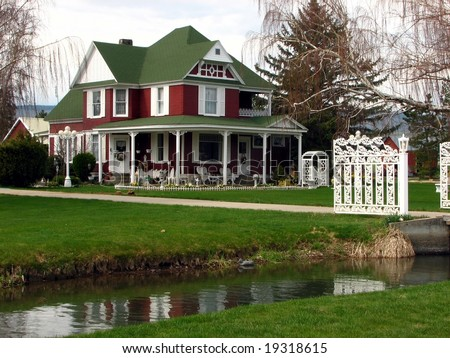Fancy Country Home - stock photo