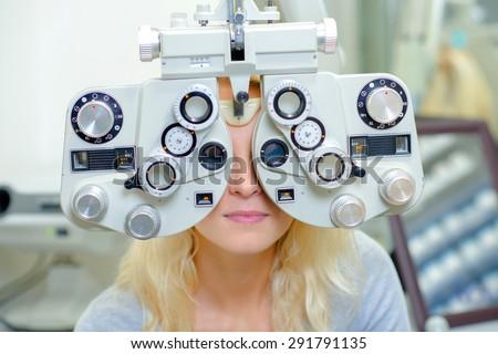 Fancy eye test - stock photo