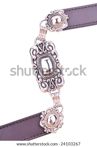 fancy female belt - stock photo
