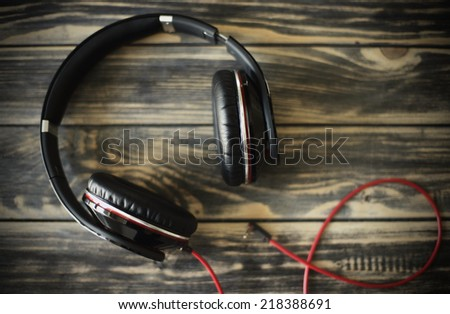 Fancy headphones - stock photo