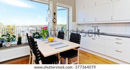 fancy home interior - stock photo