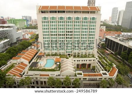 Fancy hotel in Singapore - stock photo