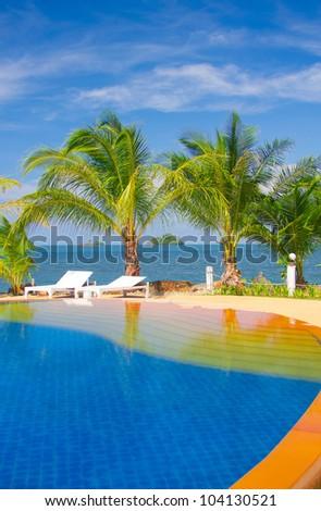 Fancy Hotel Resort Relaxation - stock photo