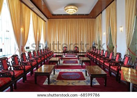 Fancy indoor living rooms - stock photo