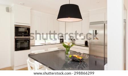 fancy interior design kitchen - stock photo