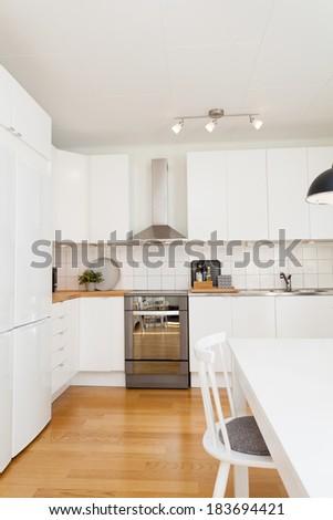 fancy kitchen - stock photo