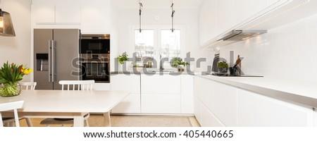 fancy kitchen i - stock photo