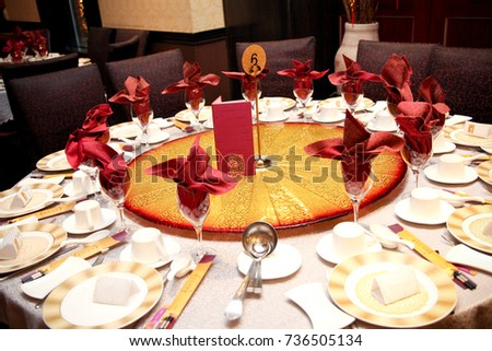 Fancy Luxurious Banquet Hall Catering Decor