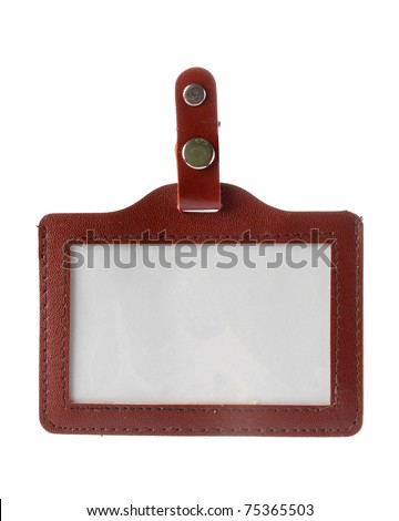 fancy Name Tag isolated on white background - stock photo