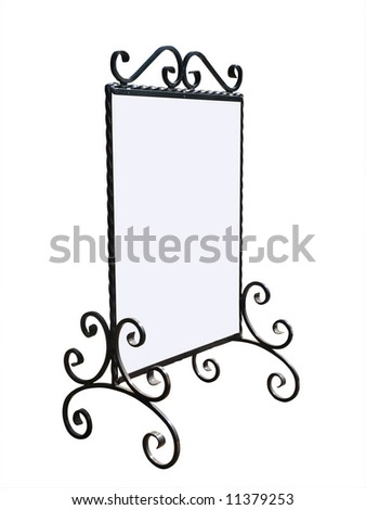 Fancy Notice Boardwith copy space isolated with clipping path - stock photo