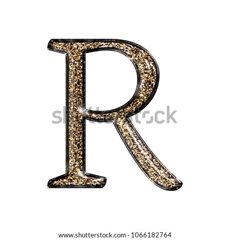 Fancy sparkling glittery gold style uppercase stock illustration fancy sparkling glittery gold style uppercase or capital letter r in a 3d illustration with a altavistaventures Image collections
