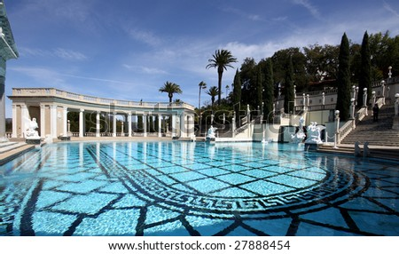 fancy swimming pool at hearst castle